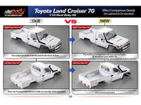 Killerbody 1/10 Toyota Land Cruiser LC70 Hard Body Set 313mm Official Licensed Version 2
