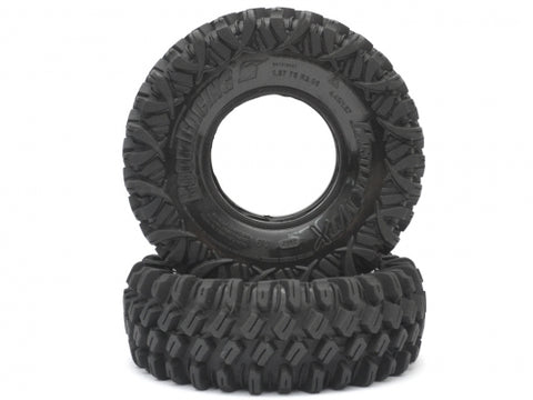 HUSTLER M/T Xtreme 1.9 Rock Crawling Tires 4.45x1.57 SNAIL SLIME™ Compound W/ 2-Stage Foams (Soft)