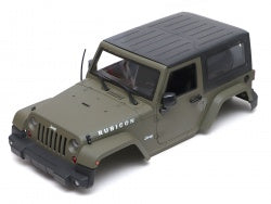 Team Raffee Co. Jeep Wrangler Body For 1/10 RC Crawler Hard Top Army Green