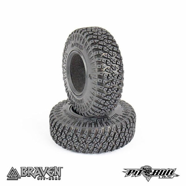 Pit Bull BRAVEN IRONSIDE 1.9 SCALE RC TIRES (ALIEN KOMPOUND) w/FOAM - 2pcs