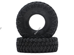 "Boom Racing HUSTLER M/T Xtreme 1.55"" BABY Rock Crawling Tires 3.74x1.3 SNAIL SLIME™ Compound W/ Open Cell Foams (Ultra Soft)"