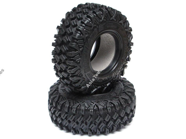Boom Racing HUSTLER M/T Xtreme 1.9 MC1 Rock Crawling Tires 4.19x1.46 SNAIL SLIME™ Compound W/ 2-Stage Foams (Super Soft) [Recon G6 Certified] 2pcs