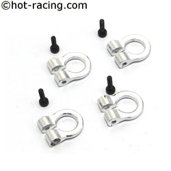 1/10 Scale Aluminum Silver Tow Shackle D-Rings (4)