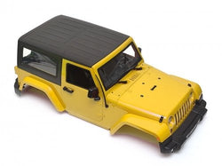 Team Raffee Co. Wrangler Body For 1/10 RC Crawler Hard Top Yellow