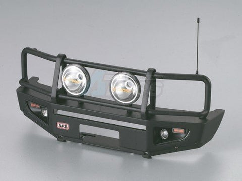 Killerbody ARB 1/10 Aluminum Bull Bar Bumper w/ LED Light Upgrade Set Matt-Black for 1/10 LC70 Truck SUV Bullbar