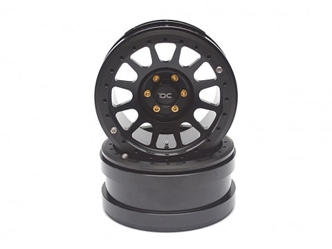 2.2 Aluminum Beadlock NV Black Wheels 2pcs