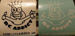 "RC Addict 6"" cut vinyl stick on graphic"