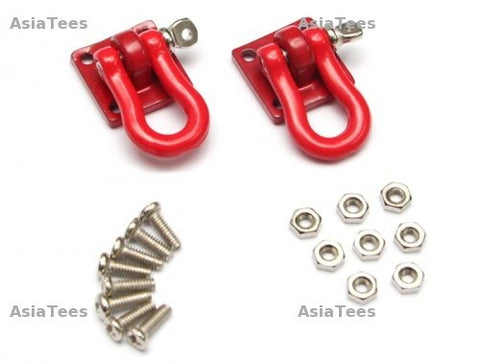 Boom Racing 1/10 Scale RC Aluminum Winch Shackle (Large) Red 2 pc [RECON G6 The Fix Certified]