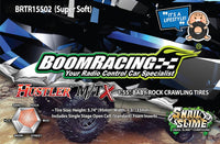 "Boom Racing HUSTLER M/T Xtreme 1.55"" MC1 Rock Crawling Tires 4.19x1.38 SNAIL SLIME™ Compound W/ 2-Stage Foams (Super Soft) 2pcs"
