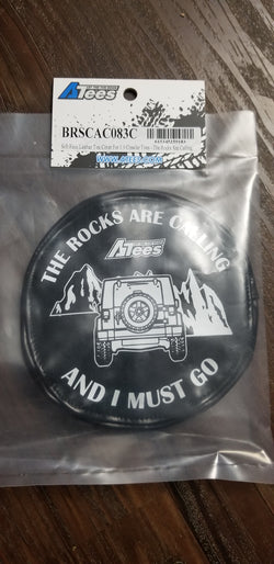 ATees Soft Faux Leather Tire Cover For 1.9 Crawler Tires - Rocks are calling
