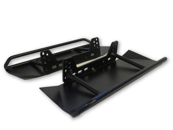 SCX10/SCX10 II Double Bar Rock Sliders w/ Skid Plates - 155mm