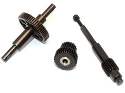 GPM Racing Steel Center Transmission Gear - 1Set Black for Vaterra K5 Blazer Ascender