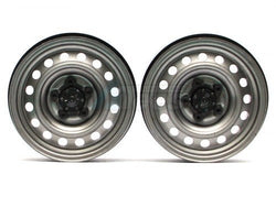 1.9 Narrow 21mm Badass Classic 16-Hole Steelie & CNC Aluminum Beadlock Wheels w/ Center Hubs (Front) Gun Metal