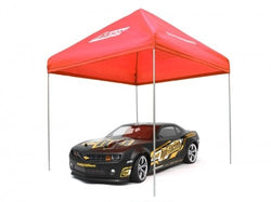 ATees 1/10 Scale EZ Up Compact Pit Tent Canopy - 1 Set Red
