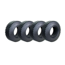 Team Raffee Co. 1.9 Crawler Tire 1.2 Inch Wide For Defender D90 D110 TF2 SCX10 (4) Black V2 for Axial SCX10
