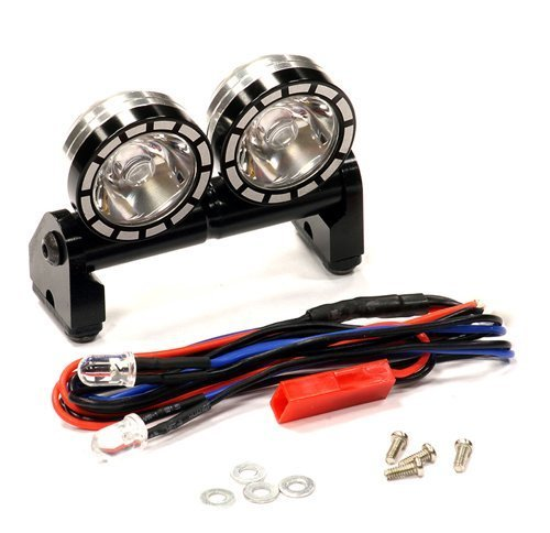 SCALE ALUMINUM DUAL SPOT LIGHT LED SET BLACK (2'')