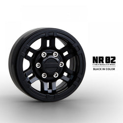 Gmade 1.9 NR02 Beadlock Wheels Black 2pcs #GM70264