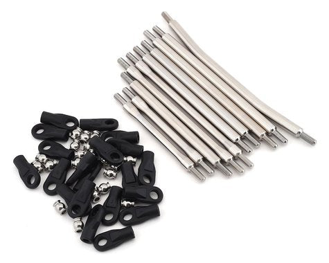 "Incision Wraith 1.9/SCX10 II 12"" Wheelbase 1/4"" Stainless Steel Link Kit"