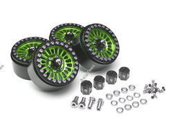 Boom Racing Venomous KRAIT™ 1.9 Aluminum Beadlock Wheels with 8mm Wideners (4) [Recon G6 Certified] Green