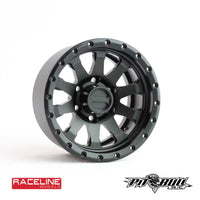 "1.9"" Raceline Clutch Aluminum Beadlock Wheels, Black, (4)"