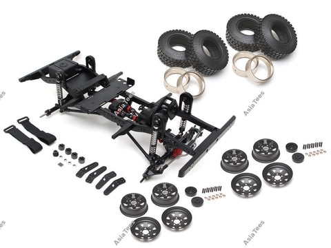 Boom Racing 1/10 ARTR Assembled D90 Chassis for TRC Raffee Defender D90 Body