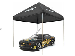 ATees 1/10 Scale EZ Up Compact Pit Tent Canopy - 1 Set Black