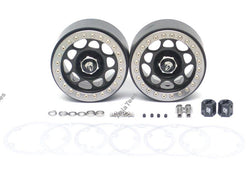 Boom Racing Sandstorm KRAIT™ 2.2 Aluminum Beadlock Wheels With 8mm Wideners (2) Black