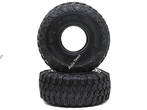"Boom Racing HUSTLER M/T Xtreme 2.2"" RR Rock Racing Tires Snail Slime Compound w/ 2-Stage (Open/Closed) Foams 5.5""x2.0"" (139x51mm) Super Soft 2pcs"