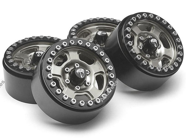 Boom Racing Golem KRAIT™ 1.9 Aluminum Beadlock Wheels with 8mm Wideners (4) [Recon G6 Certified] Gun Metal