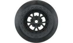 "Pomona Drag Spec 2.2""/3.0"" Black Wheels (2) for Slash 2wd Rear & Slash 4x4 Front or Rear"