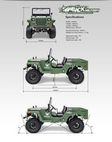Military Sawback 4 LS 4WD Brushed Off- Road RTR, 1/10th Scale, w/ GS01 Chassis