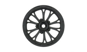 "Pomona Drag Spec 2.2"" Black Front Wheels (2) for Slash 2wd (Using 2.2"" 2WD Buggy Front Tires)"