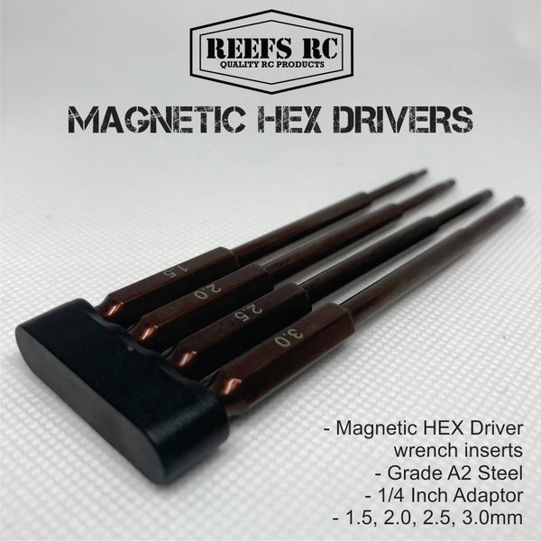Reef's RC Magnetic Hex Driver Inserts