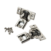 "10 Pack 105 Degree Compact 38N Series Blumotion 1/2"" Overlay Edge Mount Screw-On Self-Closing Cabinet Hinge"