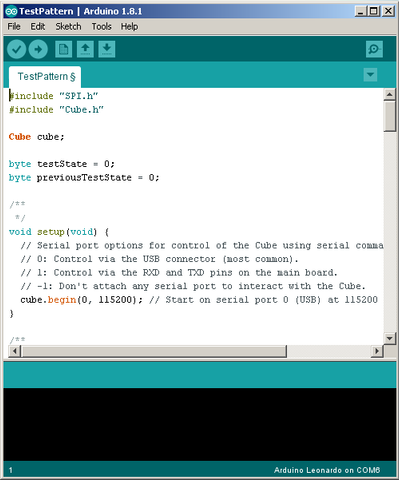 The Arduino IDE