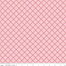 Simple Goodness Ruffle Plaid Pink Fabric by Riley Blake