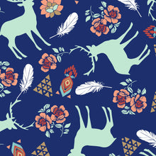 Deer Navy Fabric - Stitch Morgantown