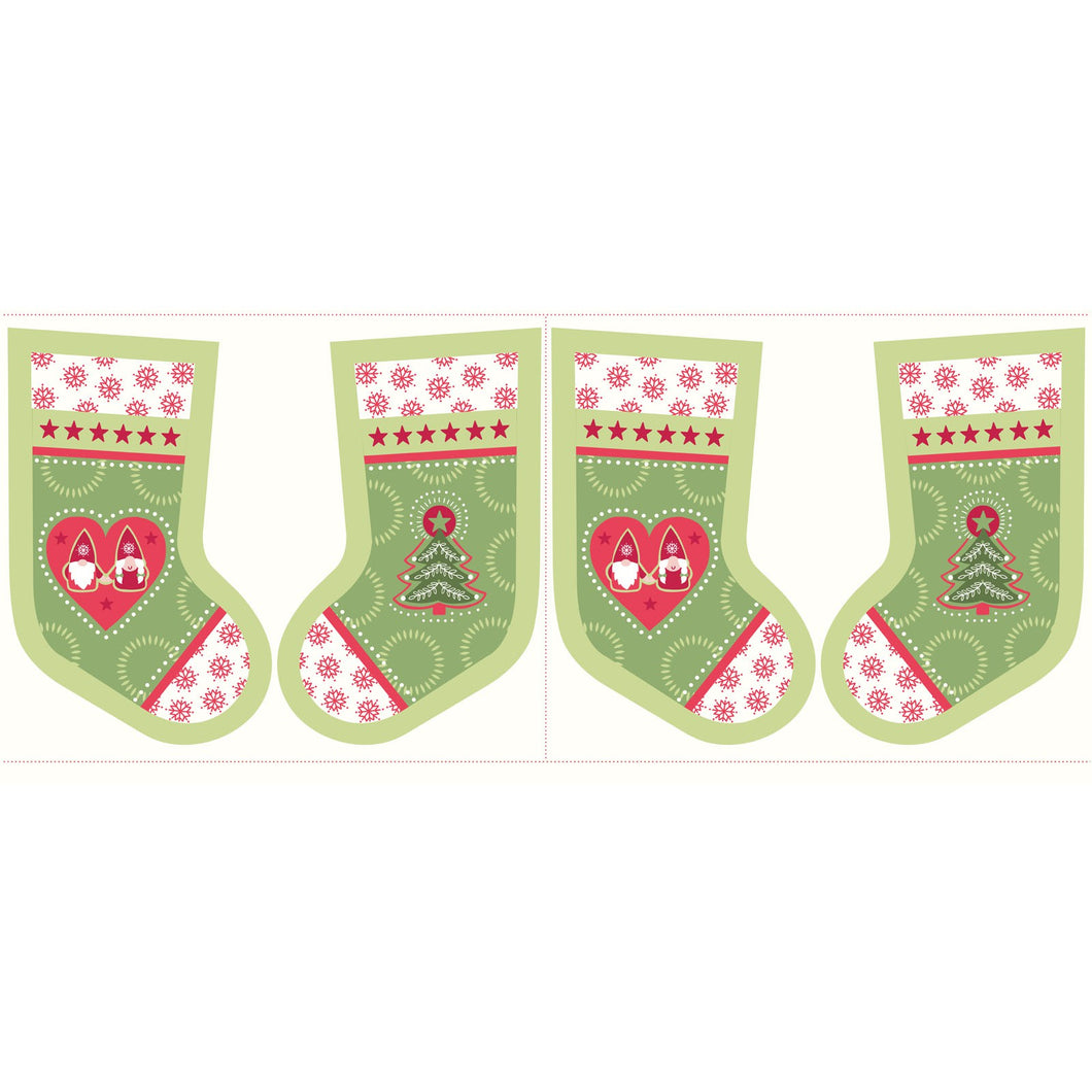 Hygge Christmas Stocking Panel Fabric - Stitch Morgantown