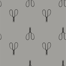 Vintage Scissors Shades of Grey