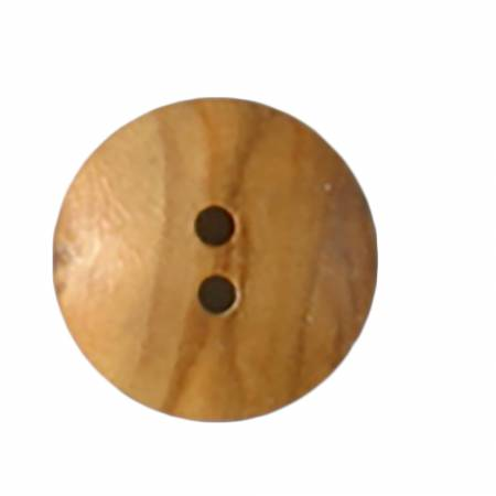 18 mm 1 1/16 inch 2-hole light wood button from Dill