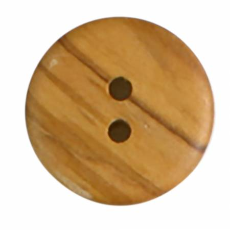23 mm 7/8 inch 2-hold light wood button from dill