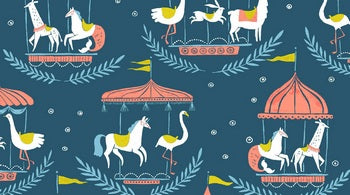 Merry Go Round Moonlight Fabric - Stitch Morgantown