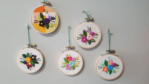 Floral Embroidery Beginner Class