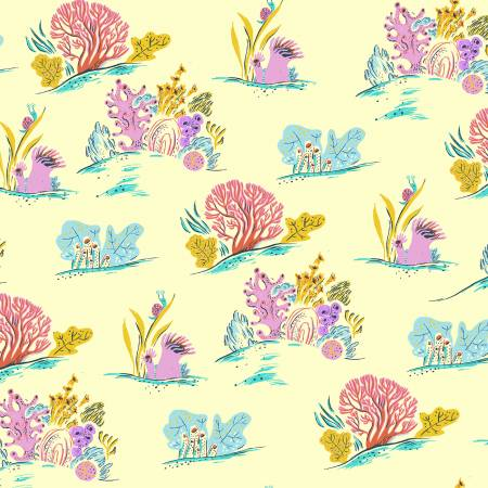 White Coral by Heather Ross for WIndham cotton fabric