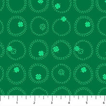 Lucky Charms Green Shamrocks by FIGO fabrics