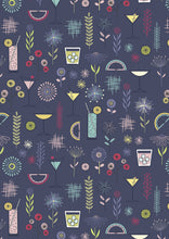 Cocktail Party Navy Blue by Lewis & Irene Cotton Fabric