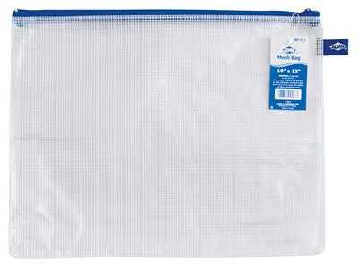 Clear Plastic Mesh Zippered Project Bag 10 x 13 - Stitch Morgantown