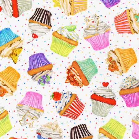 Sweet Tooth Cupcakes Cotton Fabric by Robert Kaufman