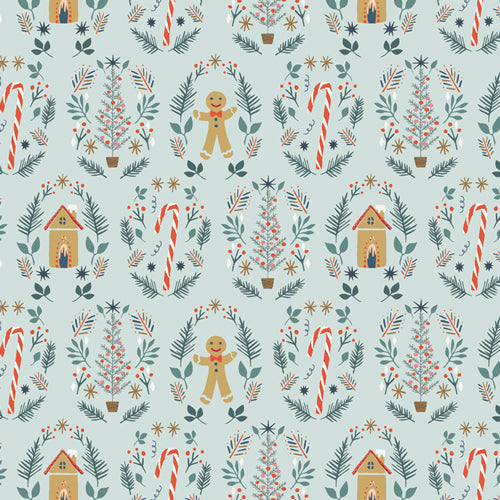 Cozy & Joyful Ginger Joy Cotton Fabric by Art Gallery Fabrics Maureen Cracknell