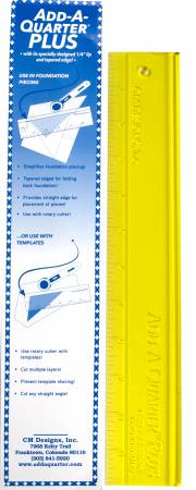 12 inch add a quarter ruler for foundation paper piecing